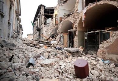 Il terremoto in Spagna (Foto Ansa)