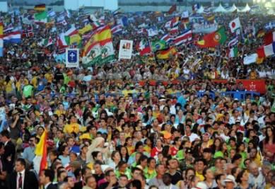 In due milioni alla veglia con il Papa, foto Ansa
