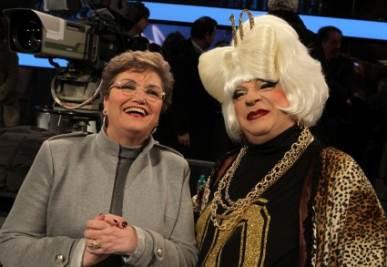 Mara Maionchi e Platinette, foto Ansa