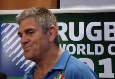 Mallett, allenatore dell'Italia di  rugby, foto Ansa