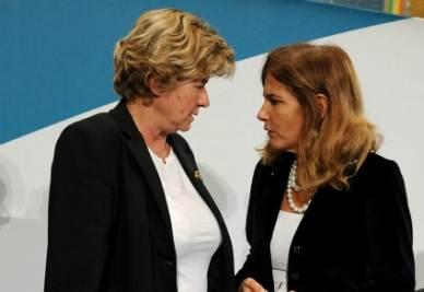 Susanna Camusso ed Emma Marcegaglia (Foto Ansa)