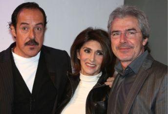 Anna Marchesini con Solenghi e Lopez, foto Ansa