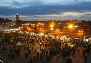 La piazza dove si è verificata l'esplosione