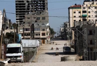 Nella Striscia di Gaza (Ansa)