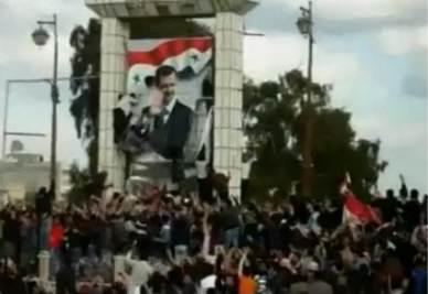 Disordini a Damasco, fermo immagine da Sky tg24 (foto ANSA)