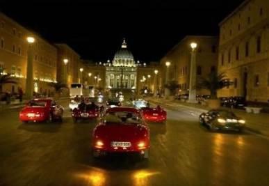 L'arrivo della Mille Miglia a Roma