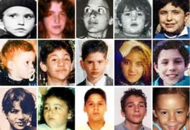 Le foto dei minori scomparsi negli ultimi anni