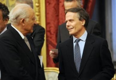 A destra, Moavero Milanesi, foto Ansa