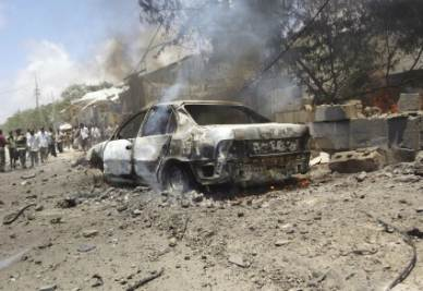 L'autobomba esplosa nell'attentato