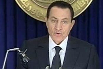 Il presidente egiziano Mubarak, foto Ansa