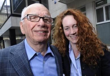 Rupert Murdoch e Rebekah Wade