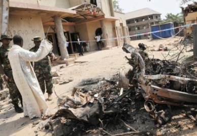 Gli attentati in Nigeria (Foto Ansa)