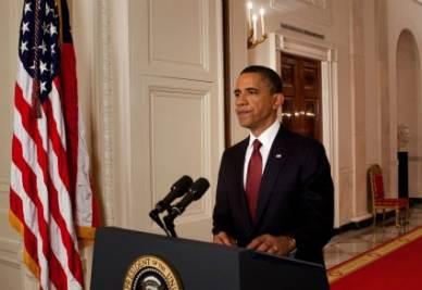 Il presidente Usa annuncia l'uccisione di bin Laden (Ansa)