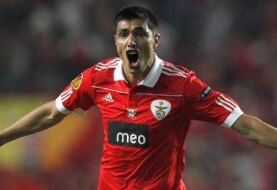 Il paraguaiano Cardozo, bomber del Benfica (ANSA)
