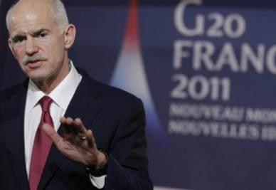George Papandreou, Primo ministro della Grecia (Ansa)