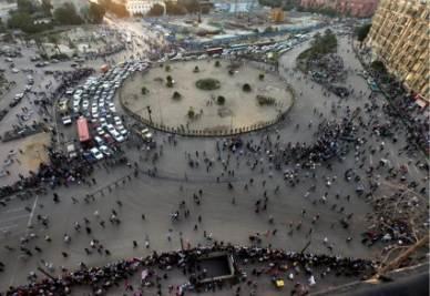 Piazza Tahrir a Il Cairo (Foto ANSA)