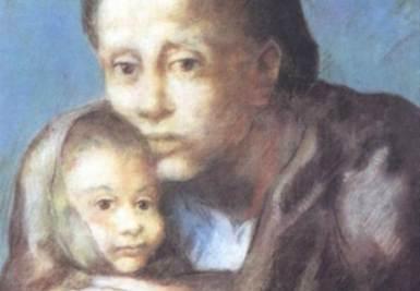 Pablo Picasso, Madre con bambino malato, 1903 (immagine d'archivio)