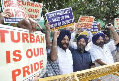 Una protesta Sikh (Foto: ANSA)