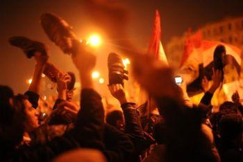 Proteste in Egitto, durante la rivoluzione (Ansa)