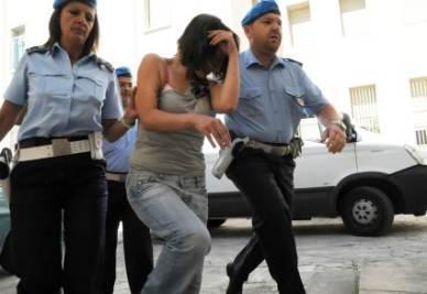 L'arresto di Katia Reginella, foto Ansa