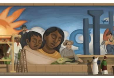 L'immagine che Google dedica a Diego Rivera
