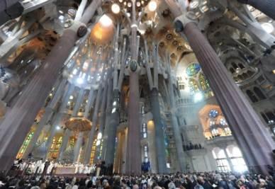 La Sagrada Familia a Barcellona (Ansa)