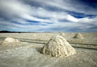 Le Salar de Uyuni in Bolivia