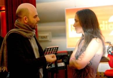 Roberto Saviano e Chiara Gamberale, foto Ansa