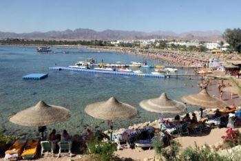 Una spiaggia di Sharm El Sheik, foto Ansa