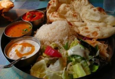 Il thali, piatto vegetariano indiano