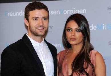 Justin Timberlake e Mila Kunis (Ansa)