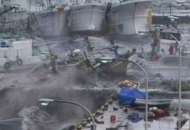 Un'area devastata dallo tsunami