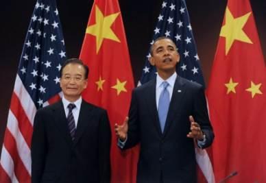 Hu Jintao e Barack Obama (Foto: ANSA)