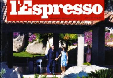 La copertina dell'Espresso su Villa Certosa
