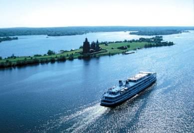 Un tratto del fiume Volga
