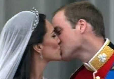 Il bacio da Backingham Palace
