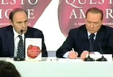 Silvio Berlusconi alla presentazione del libro di Vespa