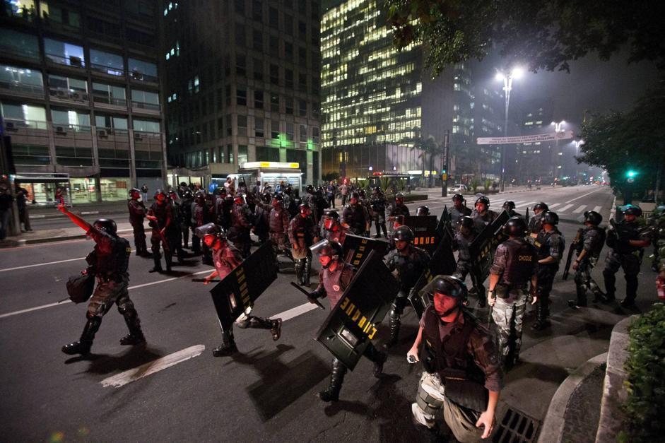 Gli scontri dal Brasile