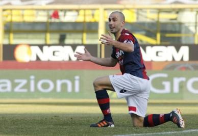 Marco Di Vaio è l'ex della partita (foto Infophoto)