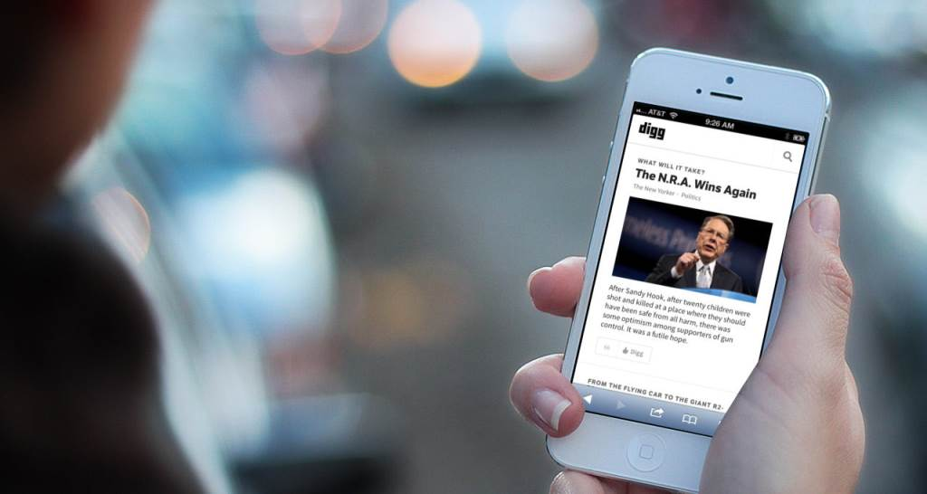 Digg Reader su iPhone