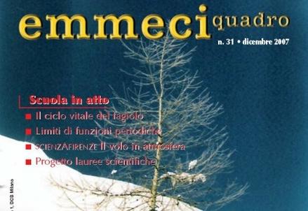 Dalla copertina del n° 31 di Emmeciquadro