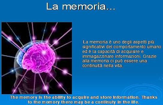 Scienz@scuola/ la memoria. un primo approccio allo studio delle