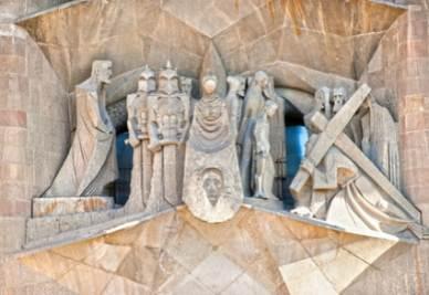 Un dettaglio de La Sagrada Familia di Barcellona (Fotolia)