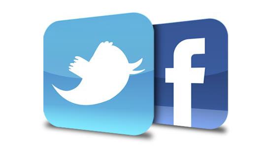 I loghi di Facebook e Twitter