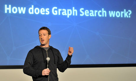 Mark Zuckerberg alla presentazione di Graph Search