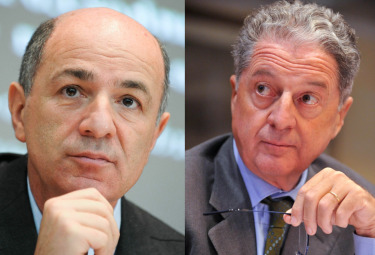 Corrado Passera e Angelo Benessia (Foto Imagoeconomica)