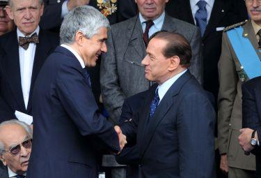 Silvio Berlusconi e Pier Ferdinando Casini (Foto Imagoeconomica)