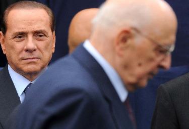 Silvio Berlusconi e Giorgio Napolitano (Imagoeconomica)