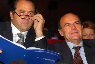 A. Di Pietro e P. Bersani (Imagoeconomica)