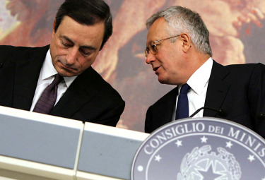 M. Draghi e G. Tremonti (Imagoeconomica)